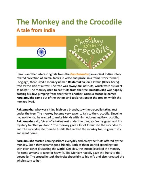 FELT BOARD STORY | The Monkey and the Crocodile | Guybrarian