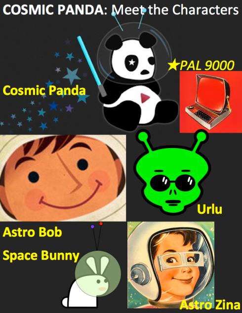 COSMIC PANDA - MEET THE 5 MAIN CHARACTERS