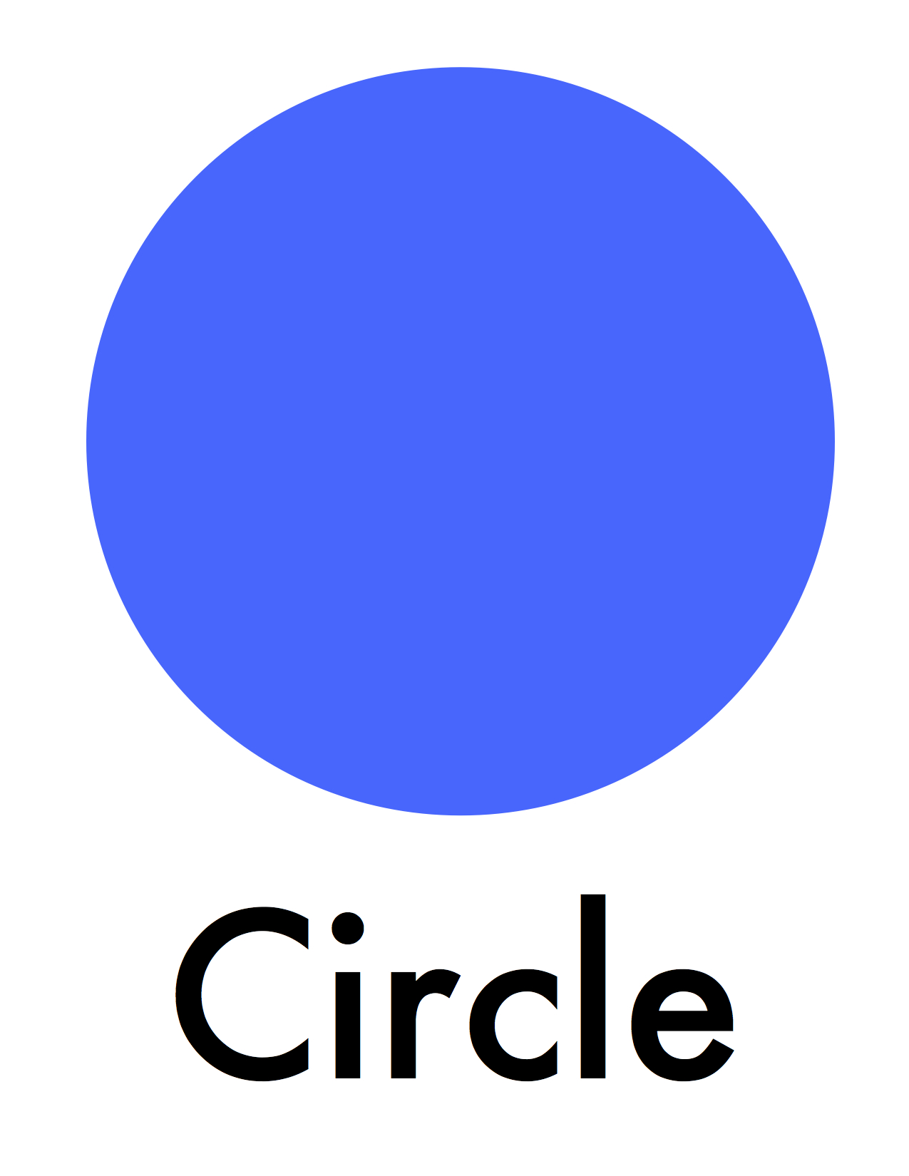 Circle shape pictures for kids