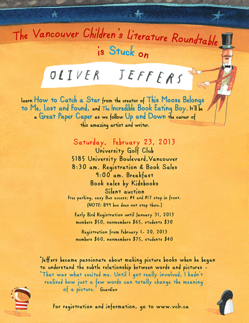 OLIVER JEFFERS VANCOUVER - THE POSTER 1