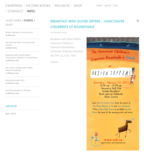 OLIVER JEFFERS VANCOUVER - THE POSTER 3