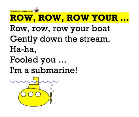 ROW ROW ROW YOUR